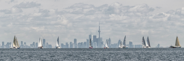 Yachts, Toronto, Lake, Skyline