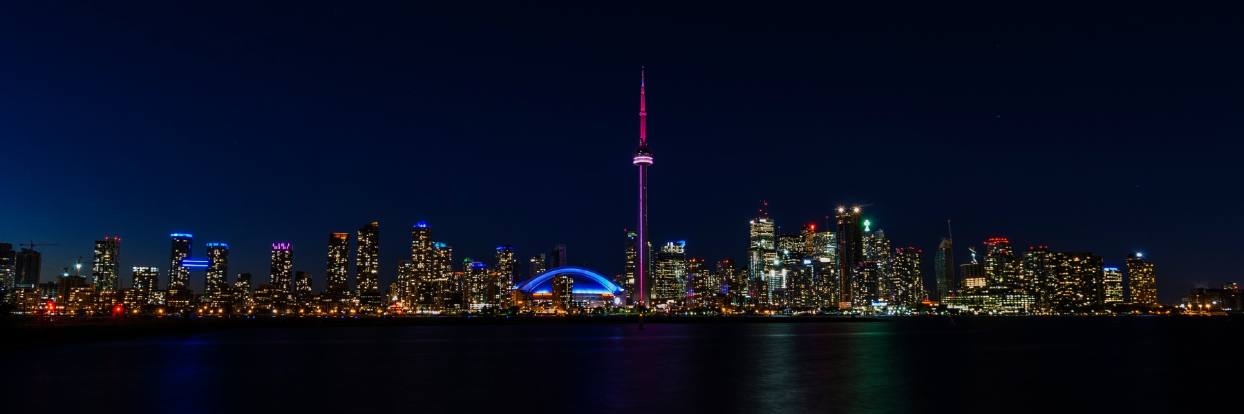 Toronto, Skyline, Night