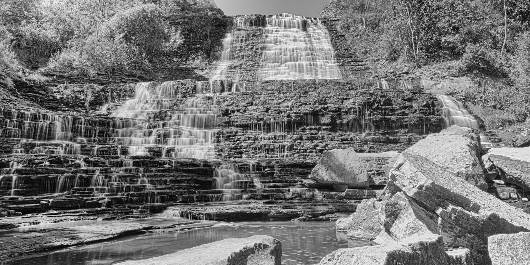Waterfall, Cascade, Albion, Falls, Fall, Water